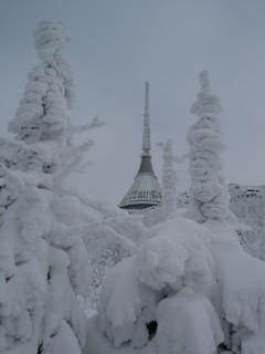 Ještěd v zimě