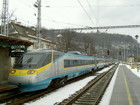 Pendolino...děčínské nádraží